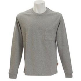 【Super Sports XEBIO & mall店:トップス】無地タフ 長袖Tシャツ 1745100A-2-GRY