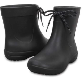 【クロックス公式】 クロックス フリーセイル ショーティー レイン ブーツ ウィメン Women's Crocs Freesail Shorty Rain Boot ウィメンズ、レディース、女性用 ブラック/黒 21cm,22cm,23cm,24cm,25cm,26cm boot ブーツ