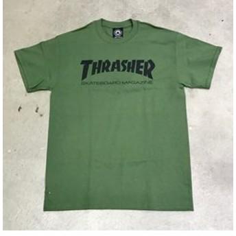 【instant skateboard:トップス】【THRASHER】 MAG LOGO T-SHIRTS (green)