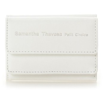【50%OFF】 サマンサタバサプチチョイス シンプルレザーロゴ ミニ財布 レディース ホワイト FREE 【Samantha Thavasa Petit Choice】 【セール開催中】