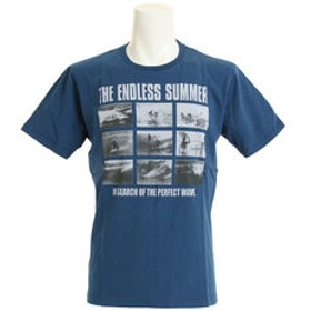 【Super Sports XEBIO & mall店:トップス】【多少の汚れ等訳あり大奉仕】半袖 ピクチャー Tシャツ TESM006 NVY