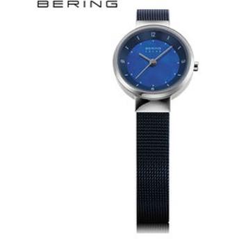 【THE WATCH SHOP.:時計】ベーリング[BERING] ソーラー[Solar] 14424-307 ブルー マザーオブパール 北欧デザイン サファイアガラス レディース