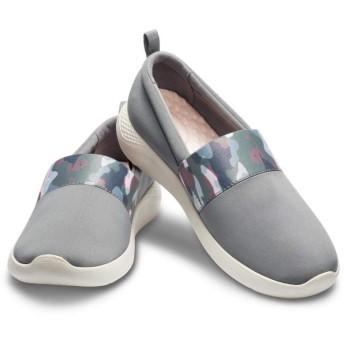 【クロックス公式】 ライトライド グラフィック スリップオン ウィメン Women's LiteRide Graphic Slip-On ウィメンズ、レディース、女性用 グレー/グレー 22cm,23cm,24cm,25cm shoe 靴 シューズ