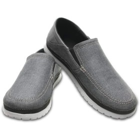 【クロックス公式】 サンタクルーズ プラヤ スリップオン メン Men's Santa Cruz Playa Slip-On メンズ、紳士、男性用 グレー/グレー 25cm,26cm,27cm,28cm,29cm loafer ローファー 靴