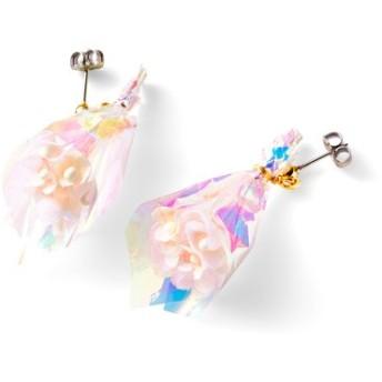 揺れる様子がかわいい 花束みたいなイヤアクセサリー フェリシモ FELISSIMO【送料:450円+税】