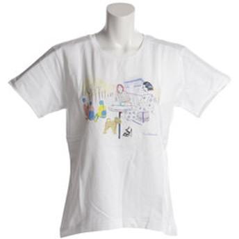 【Super Sports XEBIO & mall店:トップス】Tシャツ レディース 半袖 ORGABITS CAFE HU18SLT864511WHT