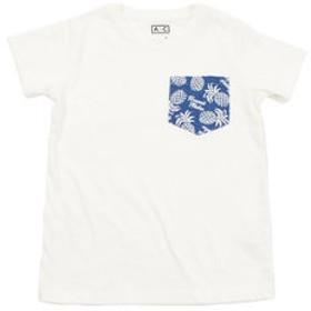 【Super Sports XEBIO & mall店:トップス】ガールズ ポケットデザイン半袖Tシャツ 865Q8RY5719 WHT