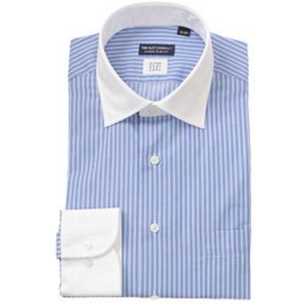 【THE SUIT COMPANY:トップス】クレリック&ワイドカラードレスシャツ ストライプ 〔EC・CLASSIC SLIM-FIT〕