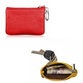 コインケース - ファッション雑貨オーバーフラッグ キーリング 付き 小銭入れ コインケース 2ポケット 多機能 薄型 マルチケース メンズ レディース コンパクト 万能 ビジネスカード薄型