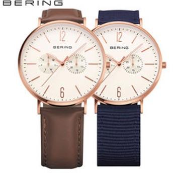 【THE WATCH SHOP.:時計】ベーリング[BERING] クラフトレザー[Calf Leather] 14240-564 メンズ・レディース 北欧デザイン 替えベルト付 2WAYモデル