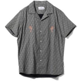 WAX LONDON / 波柄オープンカラーシャツ メンズ カジュアルシャツ BLACK M
