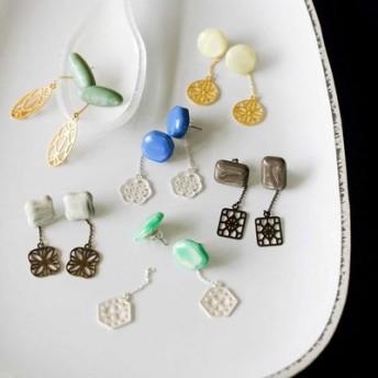 イラストレーター 山本祐布子さんと作った ミルク生まれのやさしい風合い 光を透かせるイヤアクセサリーの会 フェリシモ FELISSIMO【送料:450円+税】