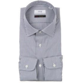 【UNIVERSAL LANGUAGE:トップス】ワイドカラードレスシャツ ストライプ