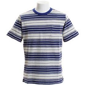【Super Sports XEBIO & mall店:トップス】さらさらボーダーTシャツ 1757208-2-NVY
