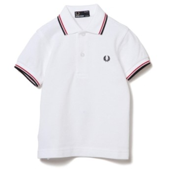 FRED PERRY / SY1200 ライン ポロシャツ 18 (2~7才) キッズ ポロシャツ ホワイト 8-9