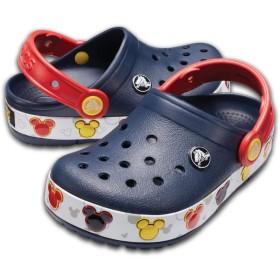 【クロックス公式】 クロックバンド ミッキー ファン ラブ ライツ キッズ Kids' Crocband Fun Lab Disney Mickey Mouse Lights Clog ユニセックス、キッズ、子供用、男の子、女の子、男女兼用 ブルー/青 15.5cm,16.5cm,17.5cm,18cm,18.5cm,19cm,19.5cm,20cm,21cm clog クロッグ サンダル