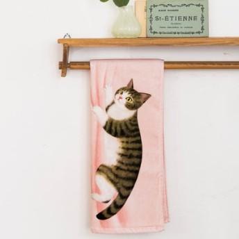 ぶらーん!とぶらさがる いたずら猫のフェイスタオルの会 フェリシモ FELISSIMO【送料:450円+税】