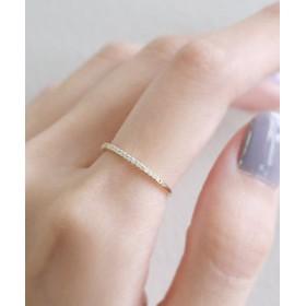 【SIENA ROSE:アクセサリー】19粒ダイヤラインのリング