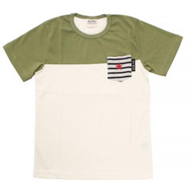 【Super Sports XEBIO & mall店:トップス】【オンラインストア限定SALE】ボーイズ 切替えポケット 半袖Tシャツ 68116 KHK
