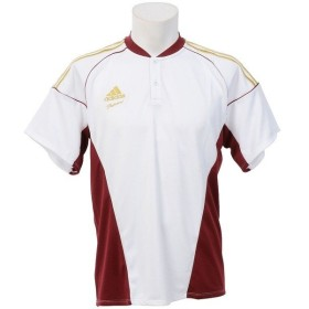 adidas(アディダス)野球 半袖Tシャツ 51 AP トレーニング チーム2ボタンシャツ Z GYJ76-S16955 メンズ J2XS WH/カレッジエイバ
