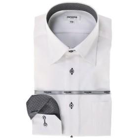 タカキュー 形態安定レギュラーフィット ドゥエボットーニスナップダウン長袖ビジネスドレスシャツ メンズ ホワイト L:41-82 【TAKA-Q】