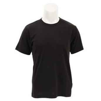 【Super Sports XEBIO & mall店:トップス】ヴィンテージ クルーネック ポケット付きTシャツ 5331 BLK