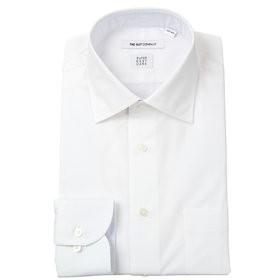 【THE SUIT COMPANY:トップス】【SUPER EASY CARE】ワイドカラードレスシャツ 織柄 〔EC・FIT〕