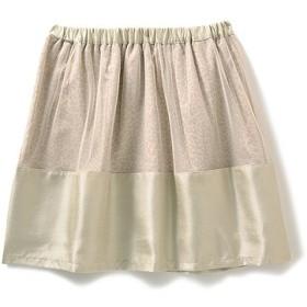 エムトロワ ヒョウ柄にベールをかけたふんわりスカート(シャンパンゴールド) フェリシモ FELISSIMO