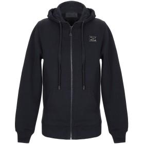 《期間限定 セール開催中》PHILIPP PLEIN メンズ スウェットシャツ ブラック S コットン 75% / ポリエステル 25%