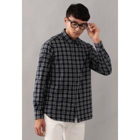 MACKINTOSH PHILOSOPHY ニットネルチェック セミワイドカラーシャツ シャツ・ブラウス,ブルータータン