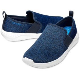 【クロックス公式】 ライトライド スリップオン メン Men's LiteRide Slip-On メンズ、紳士、男性用 ブルー/青 25cm,26cm,27cm,28cm,29cm sneaker スニーカー スリッポン スリップオン