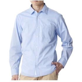 ミズノ(MIZUNO) メンズ シャンブレー 長袖シャツ ブルー B2JC8005 19 カジュアル トラベルウェア 普段着