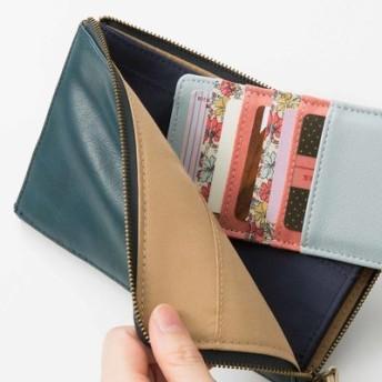 お財布美人の必需品 クリアポケット付き花柄インナーカードケースの会 フェリシモ FELISSIMO【送料:450円+税】