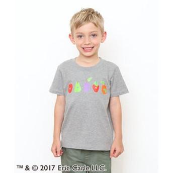 【グラニフ:トップス】コラボレーションキッズTシャツ/ファイブフルーツ(エリックカール)(ヘザーグレー)