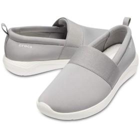 【クロックス公式】 ライトライド スリップオン ウィメン Women's LiteRide Slip-On ウィメンズ、レディース、女性用 グレー/グレー 24cm,25cm shoe 靴 シューズ