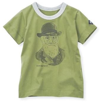 コットン素材のダーウィンを胸にかかげる偉人Tシャツ フェリシモ FELISSIMO【送料:450円+税】