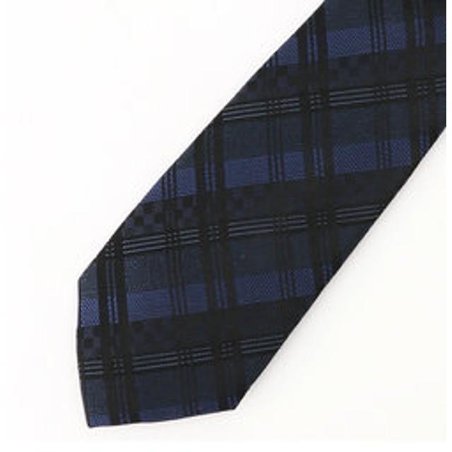 【COMME CA MEN:スーツ・ネクタイ】市松チェックネクタイ