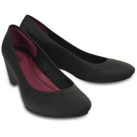 【クロックス公式】 クロックス リナ ウェッジ ウィメン Women's Crocs Lina Wedge ウィメンズ、レディース、女性用 ブラック/黒 21cm,22cm,23cm,24cm,25cm wedge 30%OFF