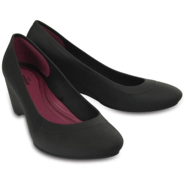 【クロックス公式】 クロックス リナ ウェッジ ウィメン Women's Crocs Lina Wedge ウィメンズ、レディース、女性用 ブラック/黒 21cm,22cm,23cm,24cm,25cm wedge