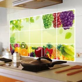 汚れ防止ステッカー ウォールステッカー インテリアシール DIY フルーツ キッチン 四角形 台所 インテリア 壁装飾 雑貨