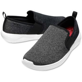 【クロックス公式】 ライトライド スリップオン メン Men's LiteRide Slip-On メンズ、紳士、男性用 ブラック/黒 25cm,26cm,27cm sneaker スニーカー スリッポン スリップオン