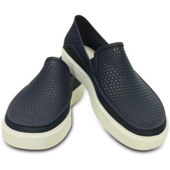 【クロックス公式】 シティレーン ロカ スリップオン CitiLane Roka Slip-ons メンズ、紳士、男性用 ブルー/青 25cm,26cm,27cm,28cm,29cm shoe 靴 シューズ