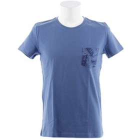 【Super Sports XEBIO & mall店:トップス】ポケットボタニカルプリント 半袖Tシャツ 871Q8CD2040BLU