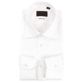 【UNIVERSAL LANGUAGE:トップス】ワイドカラードレスシャツ 織柄