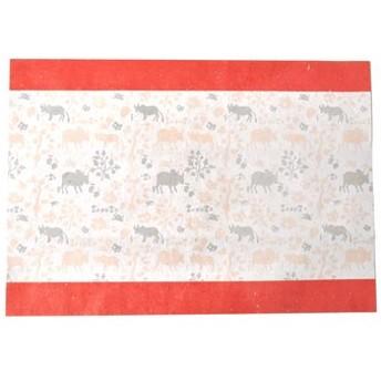 PEACE BY PEACE コットンプロジェクト ミシン目で好きな形に切れる! ラッピングコットンペーパー〈インドのこどもたちが描いた生きものたち〉の会 フェリシモ FELISSIMO【送料:450円+税】