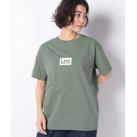 【27%OFF】 リー BOX LOGO Tシャツ 半袖 レディース グリーン S 【LEE】 【セール開催中】