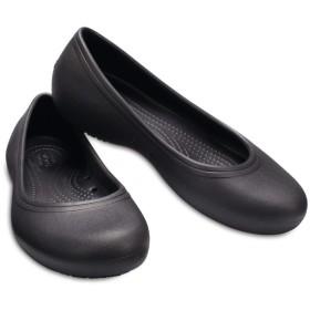 【クロックス公式】 クロックス アット ワーク フラット ウィメン Women's Crocs At Work Flat ウィメンズ、レディース、女性用 ブラック/黒 20cm,21cm,22cm,23cm,24cm,25cm,26cm flat フラットシューズ バレエシューズ ぺたんこシューズ
