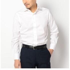 【SHIPS:トップス】SD: ALBINI社製生地 ツイル ソリッド ワイドカラーシャツ(ホワイト)