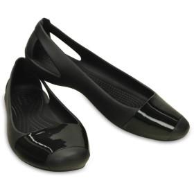 【クロックス公式】 クロックス シエンナ シャイニー フラット ウィメン Women's Crocs Sienna Shiny Flat ウィメンズ、レディース、女性用 ブラック/黒 22cm,23cm,24cm flat フラットシューズ バレエシューズ ぺたんこシューズ