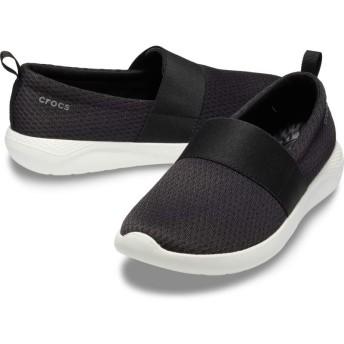【クロックス公式】 ライトライド メッシュ スリップオン ウィメン LiteRide Mesh Slip On W ウィメンズ、レディース、女性用 ブラック/黒 21cm,22cm,23cm,24cm,25cm shoe 靴 シューズ
